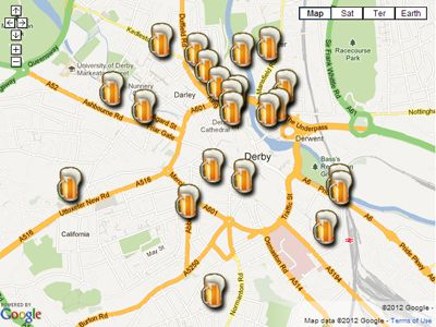 Find Pubs in Derby